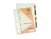 P.P. Index Divider A-4 Assorted Color - 10PCS/Set