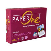 Paper, Presentation 100 GSM, A4, Paper One RM